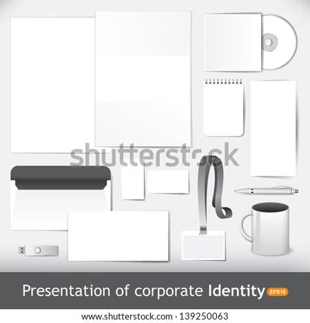 Presentation of corporate identity - stock vector