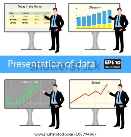 Presentation of data - stock vector