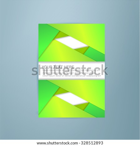 Presentation of Poster/flyer design content background. editable vector illustration - stock vector