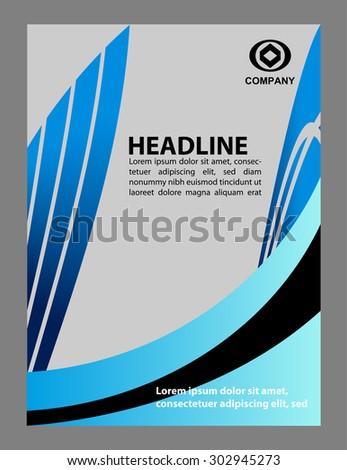 Presentation of Poster flyer design editable vector illustration - stock vector