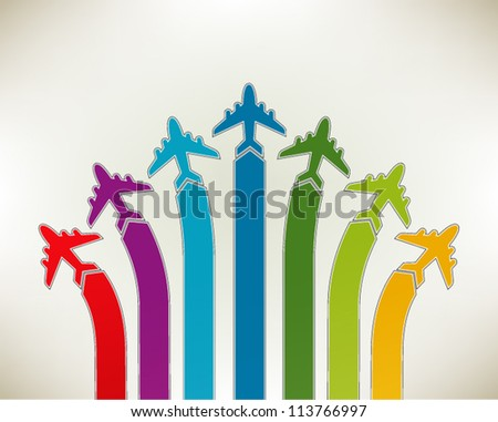 Presentation slide template editable at your choosing with your words. Directions and airplanes. Business background. Slide concept. Vector illustration. - stock vector