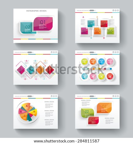 Presentation slide templates for your business with infographics and diagram set - stock vector