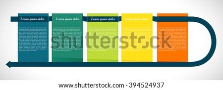 Presentation squares - stock vector