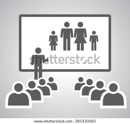 Presenting Mini Family - stock vector