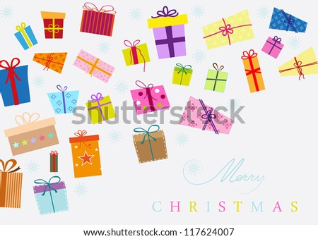 presents for christmas - stock vector