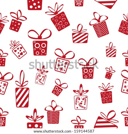 Presents seamless pattern - stock vector