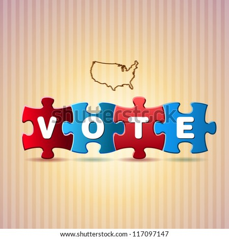 Presidential election puzzle - Vector illustration - stock vector