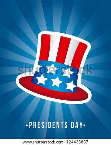 presidents day background, hat. vector illustration - stock vector