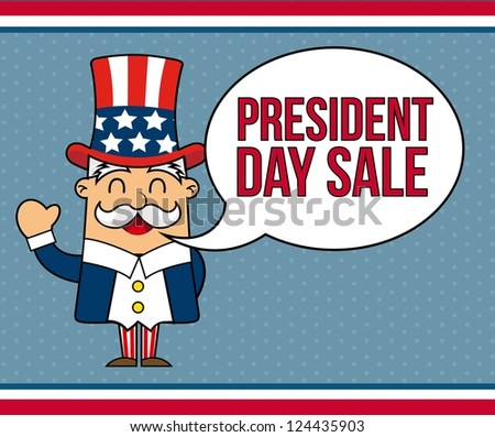 presidents day background, uncle sam. vector illustration - stock vector