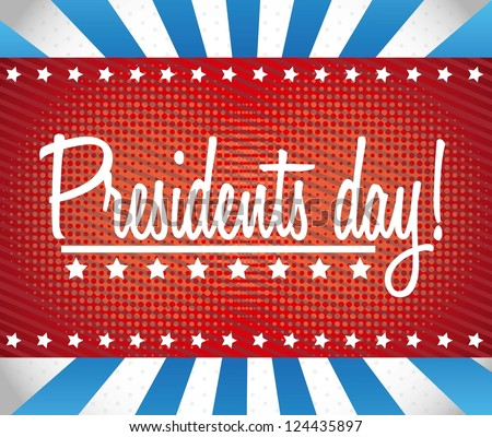 presidents day background, united states. vector illustration - stock vector