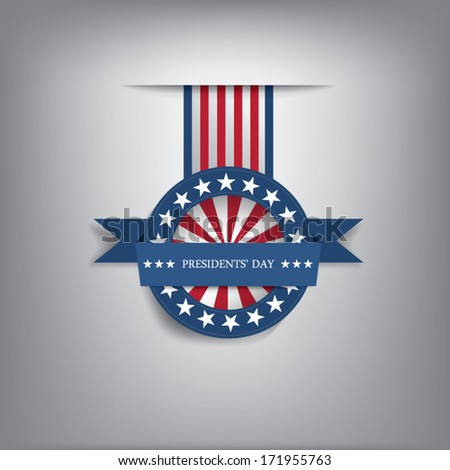 Presidents day badge eps10 vector illustration for posters, flyers, decoration etc.  - stock vector