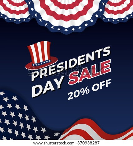 Presidents day sale background for business promotional. Vector illustration - stock vector