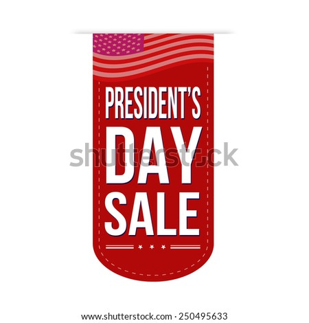 Presidents Day sale banner design over a white background, vector illustration - stock vector