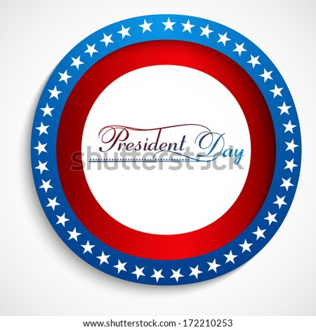 presidents day stylish text united states background design vector - stock vector