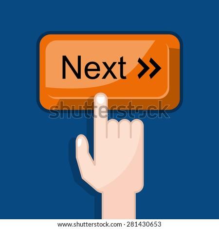 press button next - stock vector