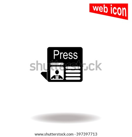 Press icon. Press icon vector. Press icon illustration. Press icon web. Press icon Eps10. Press icon image. Press icon logo. Press icon sign. Press icon art. Press icon flat. Press icon design. - stock vector