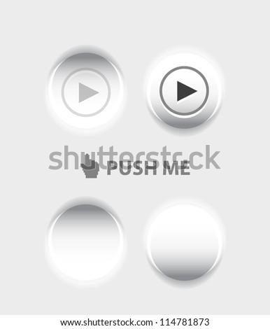 Pressed vector button - stock vector