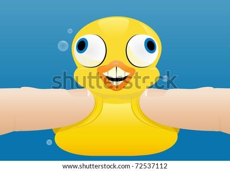 Pressured Rubber Duck - stock vector