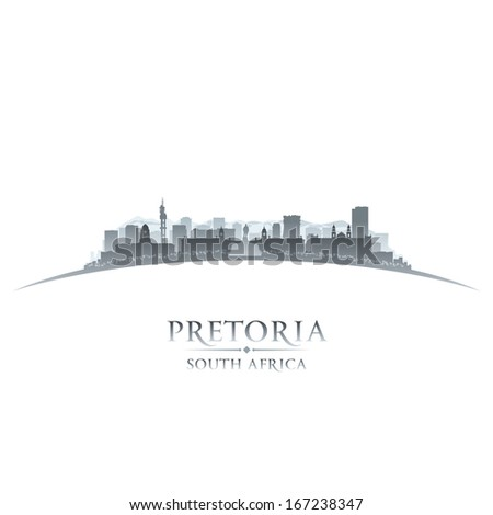 Pretoria South Africa city skyline silhouette. Vector illustration - stock vector