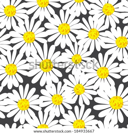 pretty daisy seamless background - stock vector