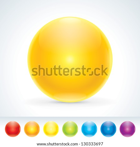 Pretty Glossy Multi-colored Sphere. Design elements. A different colors. EPS10 - stock vector