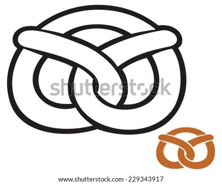 pretzel - stock vector