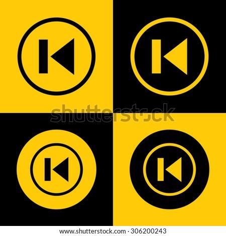 Previous Track Media player Icon. - stock vector