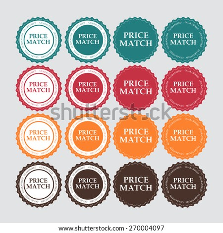 Price Match Label Vector Illustration EPS10 - stock vector