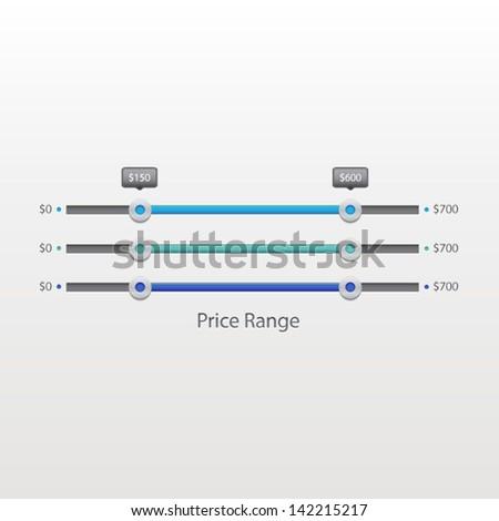 Price Range Filter - stock vector