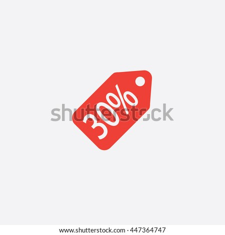 Price Tag Icon,vector , Sale Coupon - stock vector