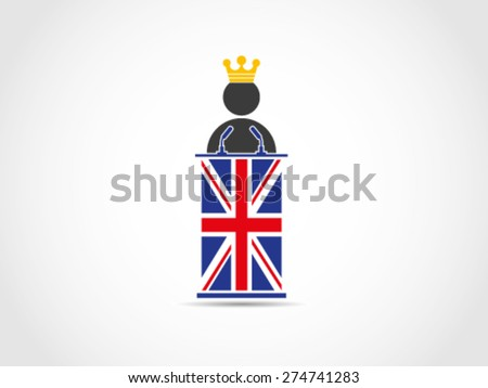 Prince King Of UK Britain Speech - stock vector