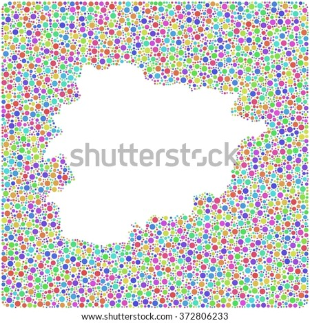 Principality of Andorra - Europe - into a square colored icon - stock vector