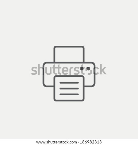 Print icon - stock vector