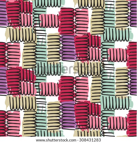 Print pattern - stock vector