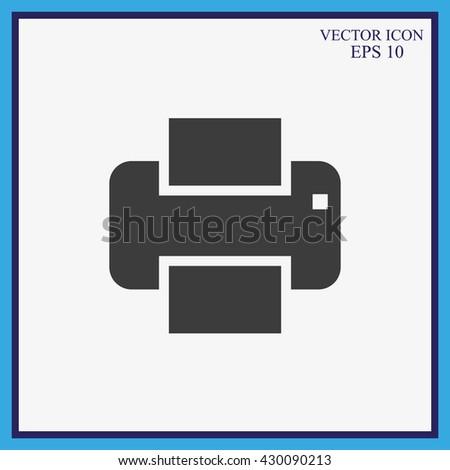 Print vector icon  - stock vector