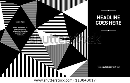 Print/ Vector Poster Design Template/ Layout Design/ Background/ Abstract web design/ wallpaper - stock vector