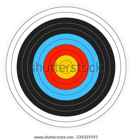 Printable archery target background.  - stock vector