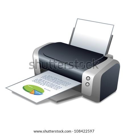 printer - stock vector