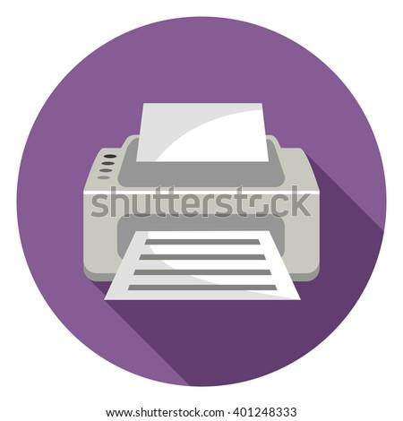printer  icon - stock vector