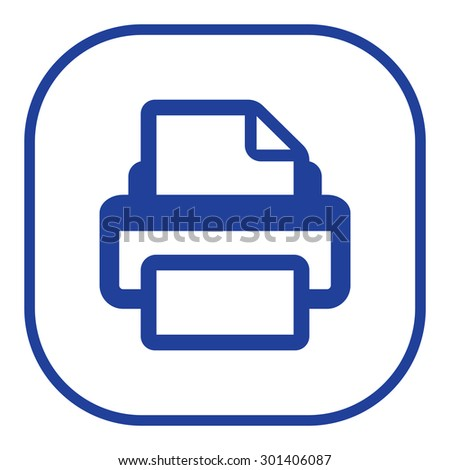 Printer icon, vector illustration. Flat design style - stock vector