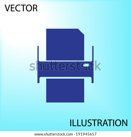 printer - Vector icon - stock vector