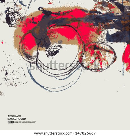 Printing ink - stock vector