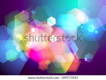 Prism bokeh lights background. Eps10. - stock vector
