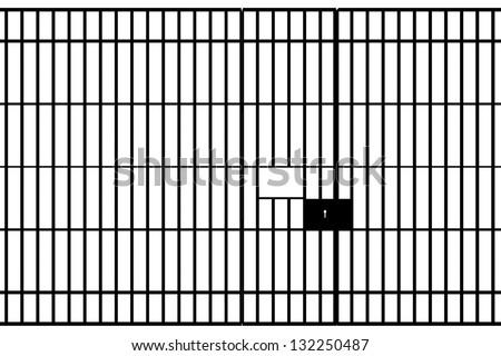 prison - stock vector