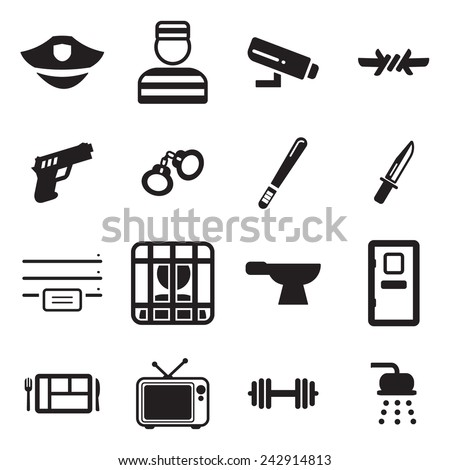 Prison Icons - stock vector