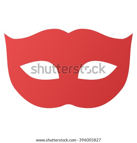 Privacy Mask vector toolbar icon for software design. Style is gradient icon symbol on a white background. - stock vector