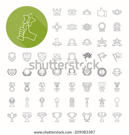 Prizes & Awards icons , thin icon design , eps10 vector format - stock vector
