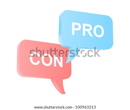 Pro and con arguments. - stock vector