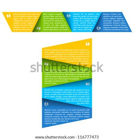 Process chart module. Vector. - stock vector