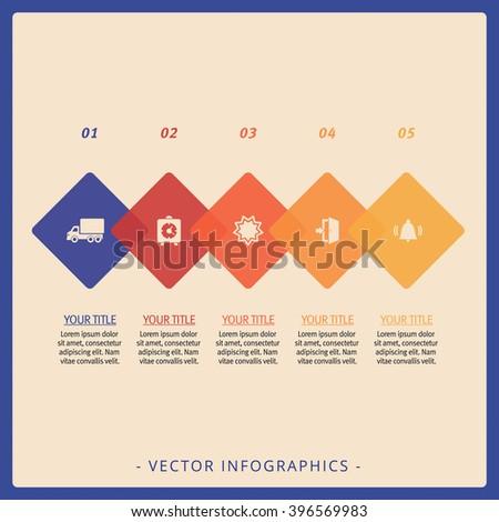 Process Chart Template 1 - stock vector